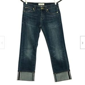 Henry & Belle Wide Cuffed SELVEDGE Cropped Jeans
